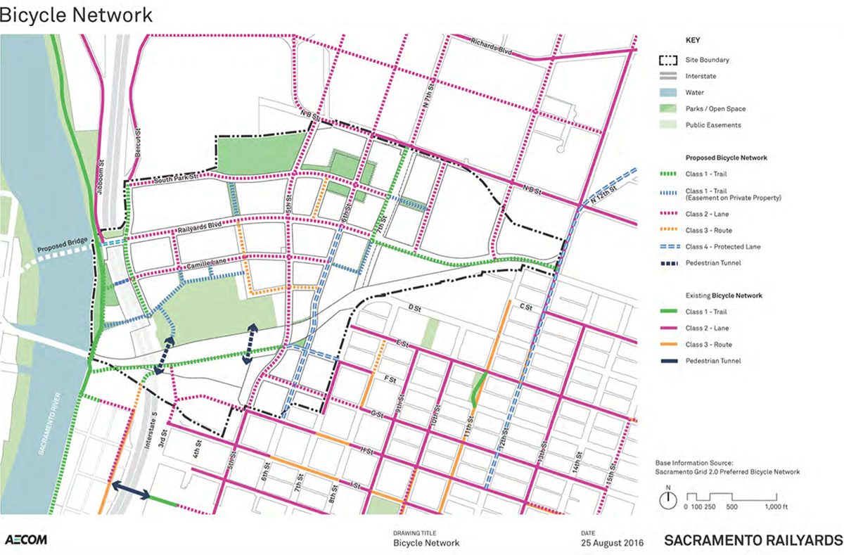 Sacramento Railyards Bike Network Plan