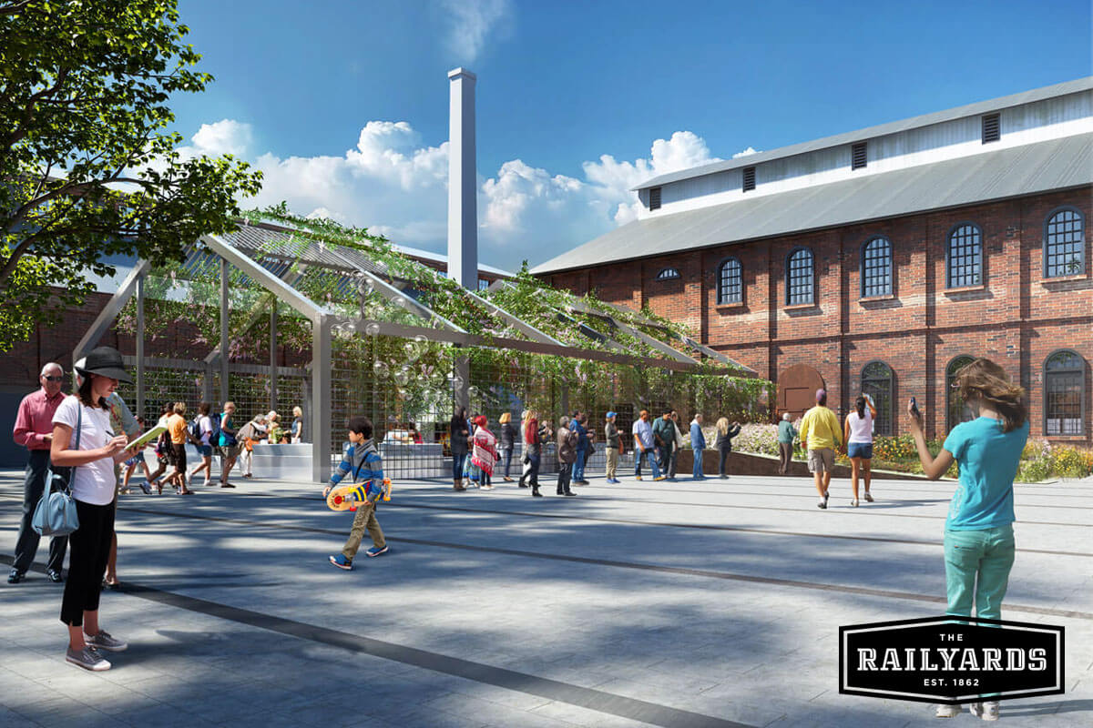 Rendering of The Railyards