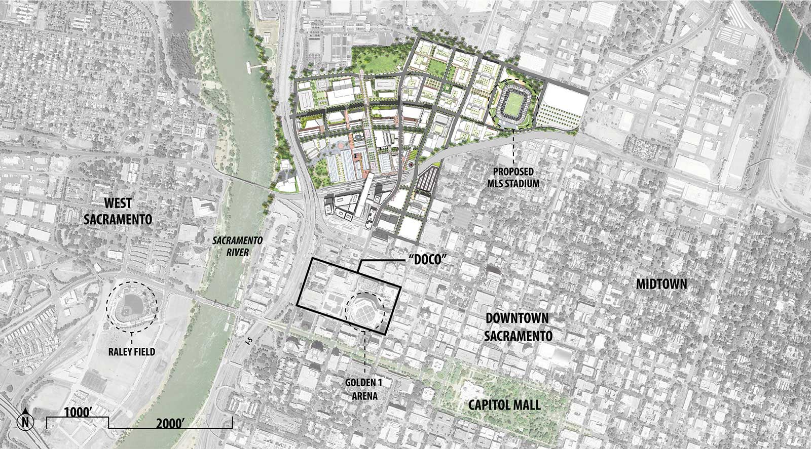 Sacramento Railyards Site Map