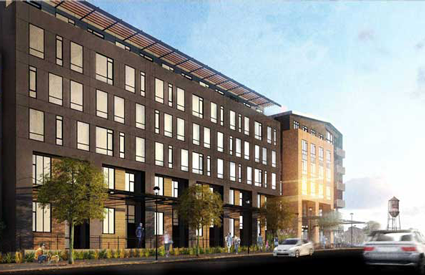 The Railyards residential housing rendering